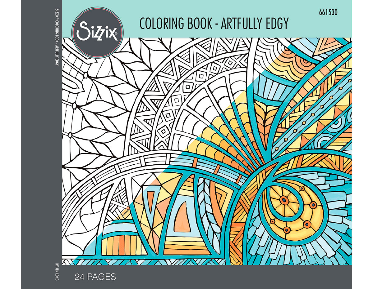 E661530 Set 24 papeles para colorear adultos Artfully edgy by Jen Long Sizzix