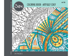 E661530 Set 24 papeles para colorear adultos Artfully edgy by Jen Long Sizzix