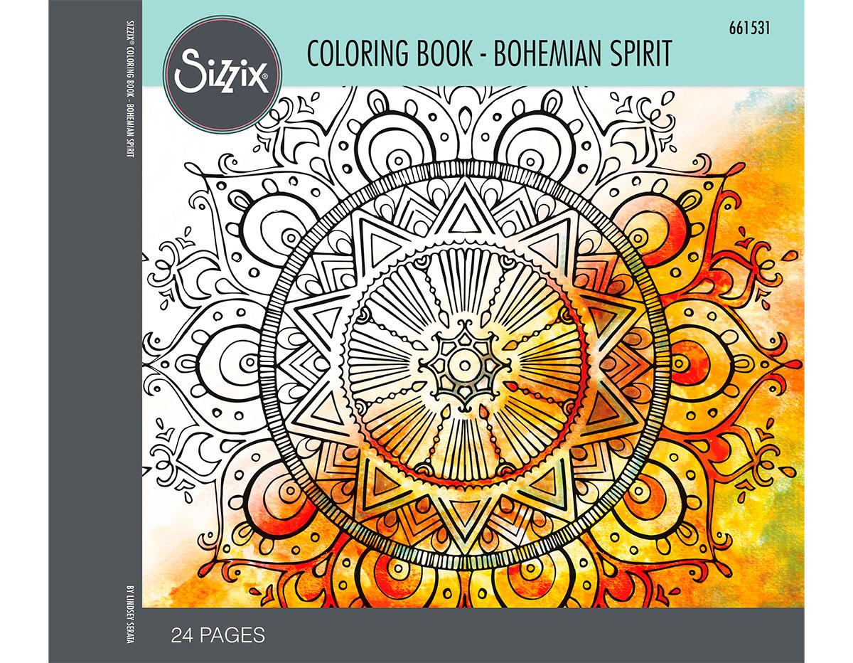E661531 Set 24 papeles para colorear adultos Bohemian spirit by Lindsey Serata Sizzix