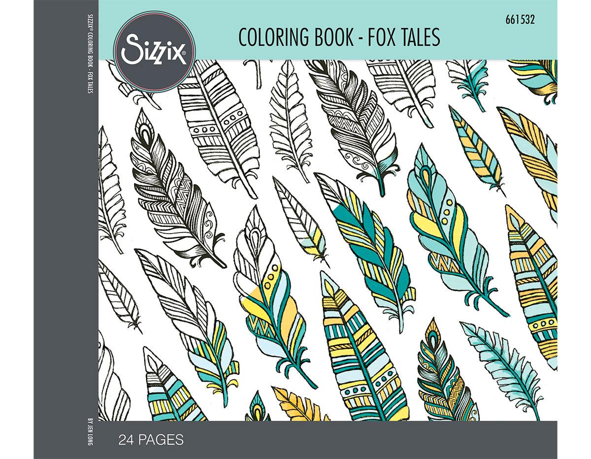 E661532 Set 24 papeles para colorear adultos Fox tales by Jen Long Sizzix