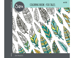 E661532 Set 24 papeles para colorear adultos Fox tales by Jen Long Sizzix