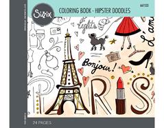 E661533 Set 24 papeles para colorear adultos Hipster doodles Sizzix
