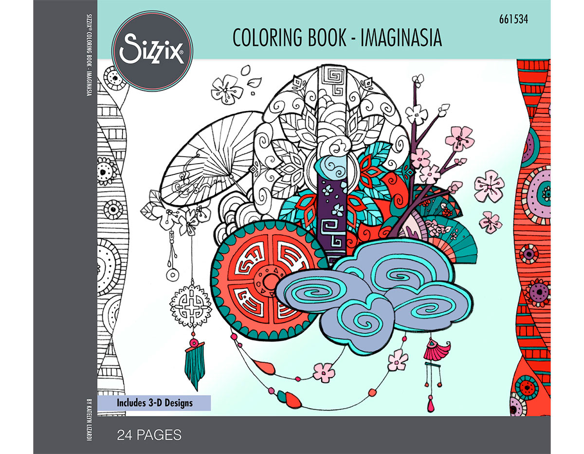 E661534 Set 24 papeles para colorear adultos Imaginasia by Katelyn Lizardi Sizzix