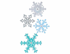 E661541 Set 4 troqueles THINLITS Snowflakes 2 by Sharyn Sowell Sizzix