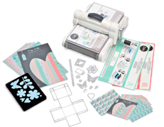 E661546 1-Maquina para troquelar BIG SHOT PLUS starter kit White and Grey coleccion My Life Handmade boca 22 5cm Sizzix