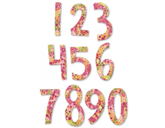 E661653 Set 2 troqueles BIGZ especial quilting Fresh blossoms numbers by Stephanie Ackerman Sizzix