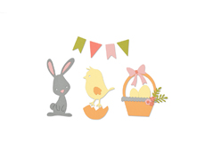 E661684 Set 17 troqueles THINLITS Easter by Pete Hughes Sizzix
