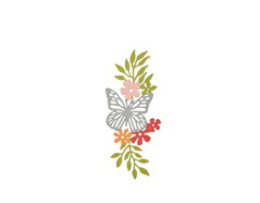 E661687 Troquel THINLITS Meadow butterfly 2 by Debi Potter Sizzix