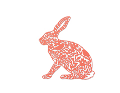 E661689 Troquel THINLITS Wild rabbit by Georgia Low Sizzix