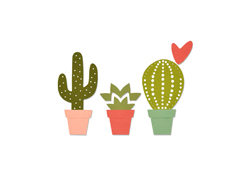 E661700 Set 6 troqueles THINLITS Cacti by Debi Potter Sizzix