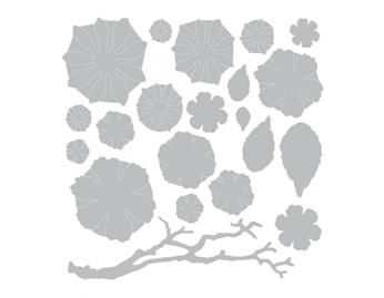 E661806 Set 21 troqueles THINLITS Small tattered floral by Tim Holtz Sizzix - Ítem2