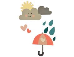 E662097 Set 13 troqueles THINLITS Rainy days and sunshine 2 by Katie Skilton Sizzix