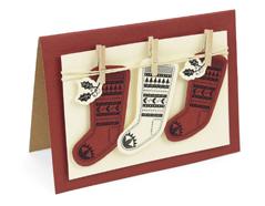 E662166 Set 2 troqueles FRAMELITS con sello Fairisle stocking Sizzix