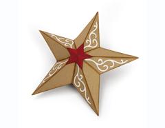 E662285 Troquel BIGZ Christmas Star 3-D by Katelyn Lizardi Sizzix