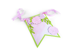 E662364 Set 9 troqueles THINLITS Floral Banner by David Tutera Sizzix
