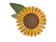 E662508 Set 4 troqueles THINLITS Sunflower by Sharon Drury Sizzix