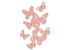 E662516 Set 3 troqueles THINLITS Butterflies by Samantha Barnett Sizzix