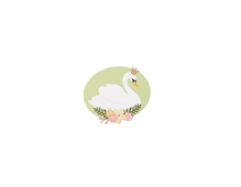 E662541 Set 4 troqueles THINLITS Royal swan by Debi Potter Sizzix