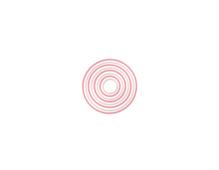 E662543 Set 8 troqueles THINLITS Concentric circles by Pete Hughes - cortan el marco del circulo Sizzix