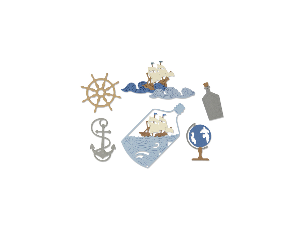 E662546 Set 7 troqueles THINLITS Ship in a bottle by My Life Handmade Sizzix