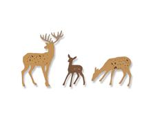 E662572 Set 6 troqueles THINLITS Woodland deer by Sharon Drury Sizzix
