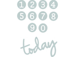 E662577 Set 11 troqueles THINLITS Dainty Birthday Numbers by Debi Potter Sizzix - Ítem2