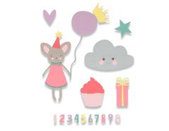 E662591 Set 17 troqueles THINLITS Birthday girl by My life handmade Sizzix