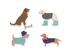 E662592 Set 10 troqueles THINLITS Country canines by Samantha Barnett Sizzix