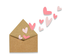 E662597 Set 2 troqueles THINLITS With love envelopes with Hearts Sizzix