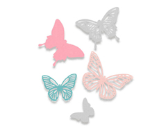 E662607 Set 5 troqueles THINLITS Butterflies Sizzix