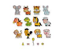 E662615 Set 18 troqueles FRAMELITS con sellos Zodiac Animals Sizzix