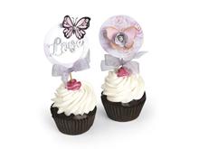 E662642 Set 7 troqueles FRAMELITS con sellos Cupcake Topper by David Tutera Sizzix
