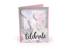 E662644 Set 7 troqueles FRAMELITS con sellos Let s Celebrate by David Tutuera Sizzix