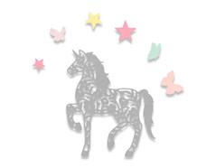 E662678 Set 5 troqueles THINLITS Intricate unicorn by Sophie Guilar Sizzix