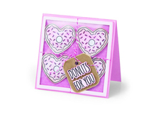 E662680 Set 6 troqueles FRAMELITS con sello Donuts for you by Jen Long Sizzix