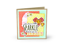 E662683 Set 6 troqueles FRAMELITS con sello Sparkle by Jen Long Sizzix