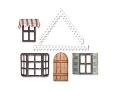 E662699 Set 7 troqueles THINLITS Village fixer upper by Tim Holtz - complementos para la casa E660992 Sizzix