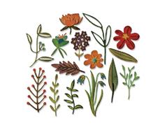 E662701 Set 15 troqueles THINLITS Funky floral 2 by Tim Holtz Sizzix