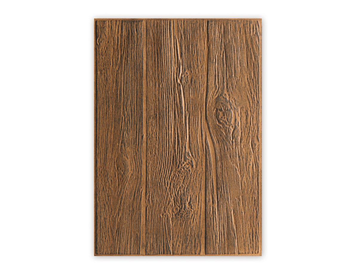 E662718 Placa de textura 3D TEXTURED IMPRESSIONS Wood Planks by Tim Holtz Sizzix