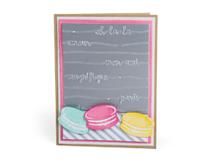 E662750 Set 5 troqueles THINLITS CON TEXTURED IMPRESSIONS Bonjour chic by Courtney Chilson Sizzix