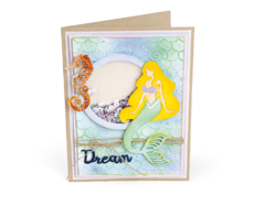 E662752 Set 4 troqueles THINLITS CON TEXTURED IMPRESSIONS Dream mermaid by Courtney Chilson and Jen Long Sizzix