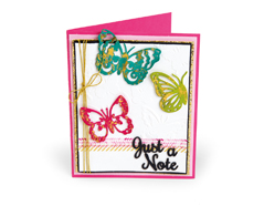 E662753 Set 6 troqueles THINLITS CON TEXTURED IMPRESSIONS Just a note butterflies by Courtney Chilson Sizzix