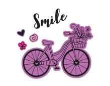 E662908 Set 4 troqueles FRAMELITS con sellos Bicycle 2 by Katelyn Lizardi Sizzix