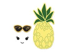 E662933 Set 2 troqueles FRAMELITS con sellos Sunny pineapple by Katelyn Lizardi Sizzix