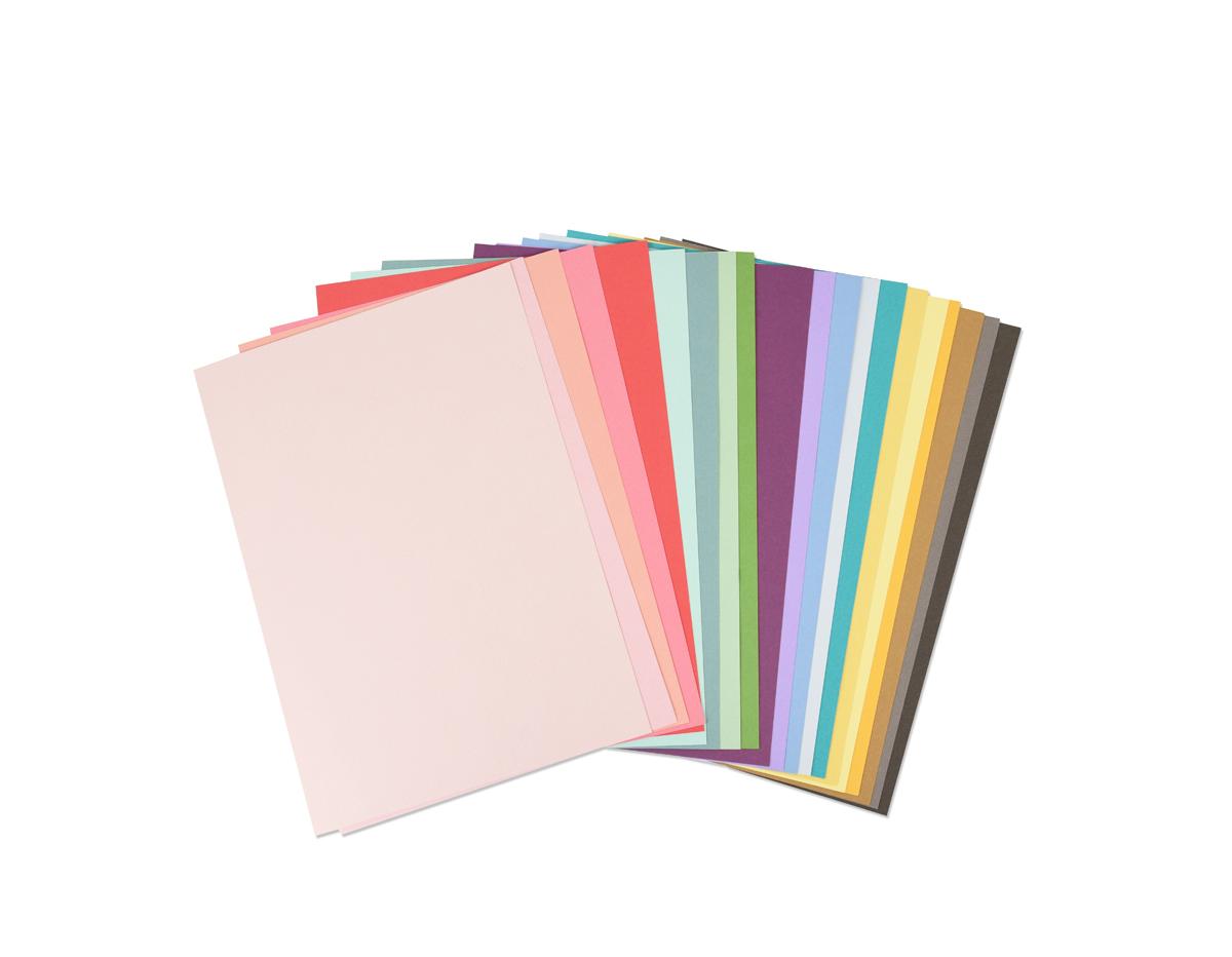 E663007 Set 80 papeles cartulina colores surtidos A4 216gr m2 Sizzix