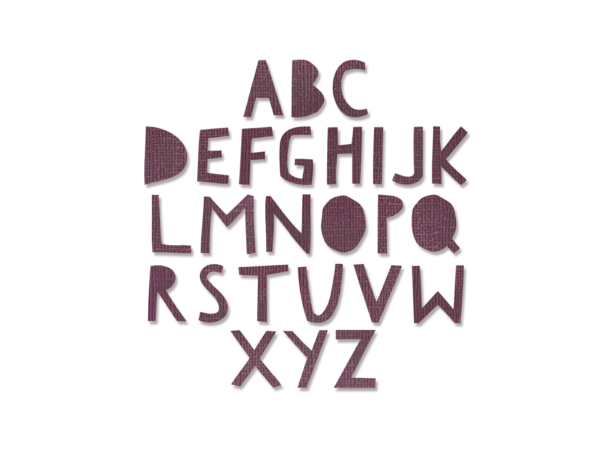 E663073 Set 76 troqueles THINLITS Alphanumeric cutout upper by Tim Holtz Sizzix