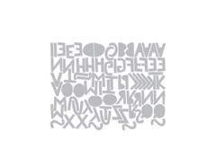 E663073 Set 76 troqueles THINLITS Alphanumeric cutout upper by Tim Holtz Sizzix - Ítem3