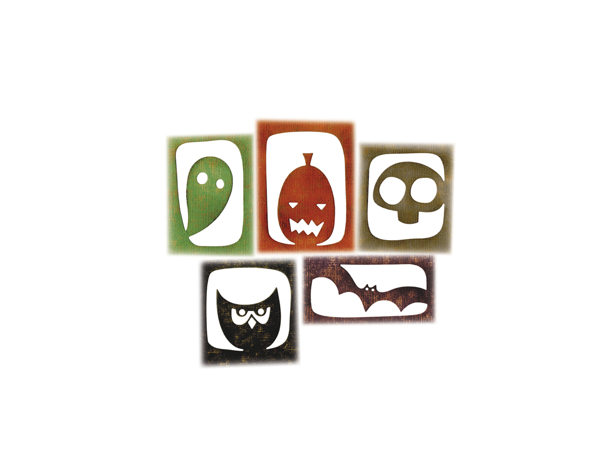 E663088 Set 5 troqueles THINLITS Halloween hangouts by Tim Holtz Sizzix