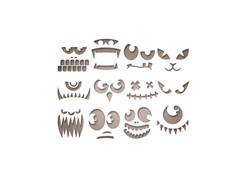 E663090 Set 12 troqueles THINLITS Frightening faces by Tim Holtz Sizzix