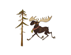 E663103 Set 7 troqueles THINLITS Merry moose by Tim holtz Sizzix